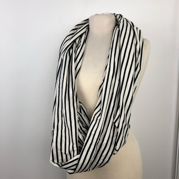 American Apparel The Circle Infinity Stripe Scarf